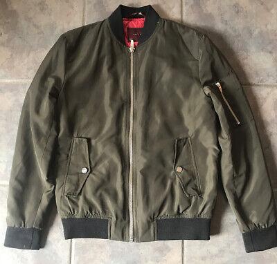Zara Man Quilted Lightweight Jacket Coat Men's Size S Zip Up
