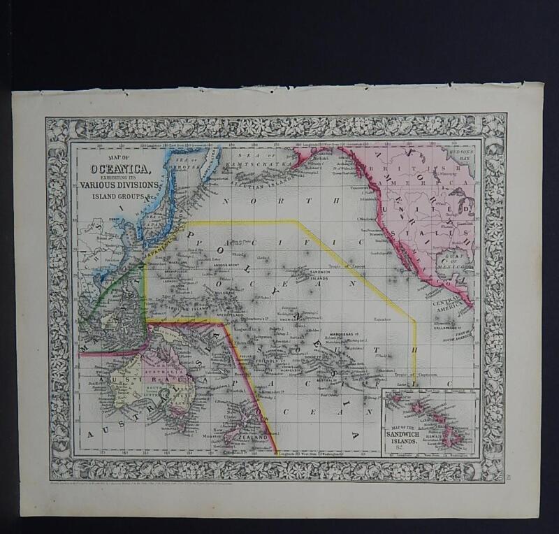 Antique Map, Mitchell, 1865, Oceania, Australia M8#19