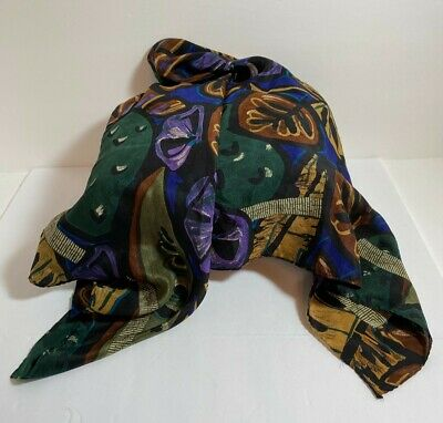 Vintage Scarf Styles -1920s to 1960s Vintage Liz Claiborne Beautiful Silk Scarf 30x30
