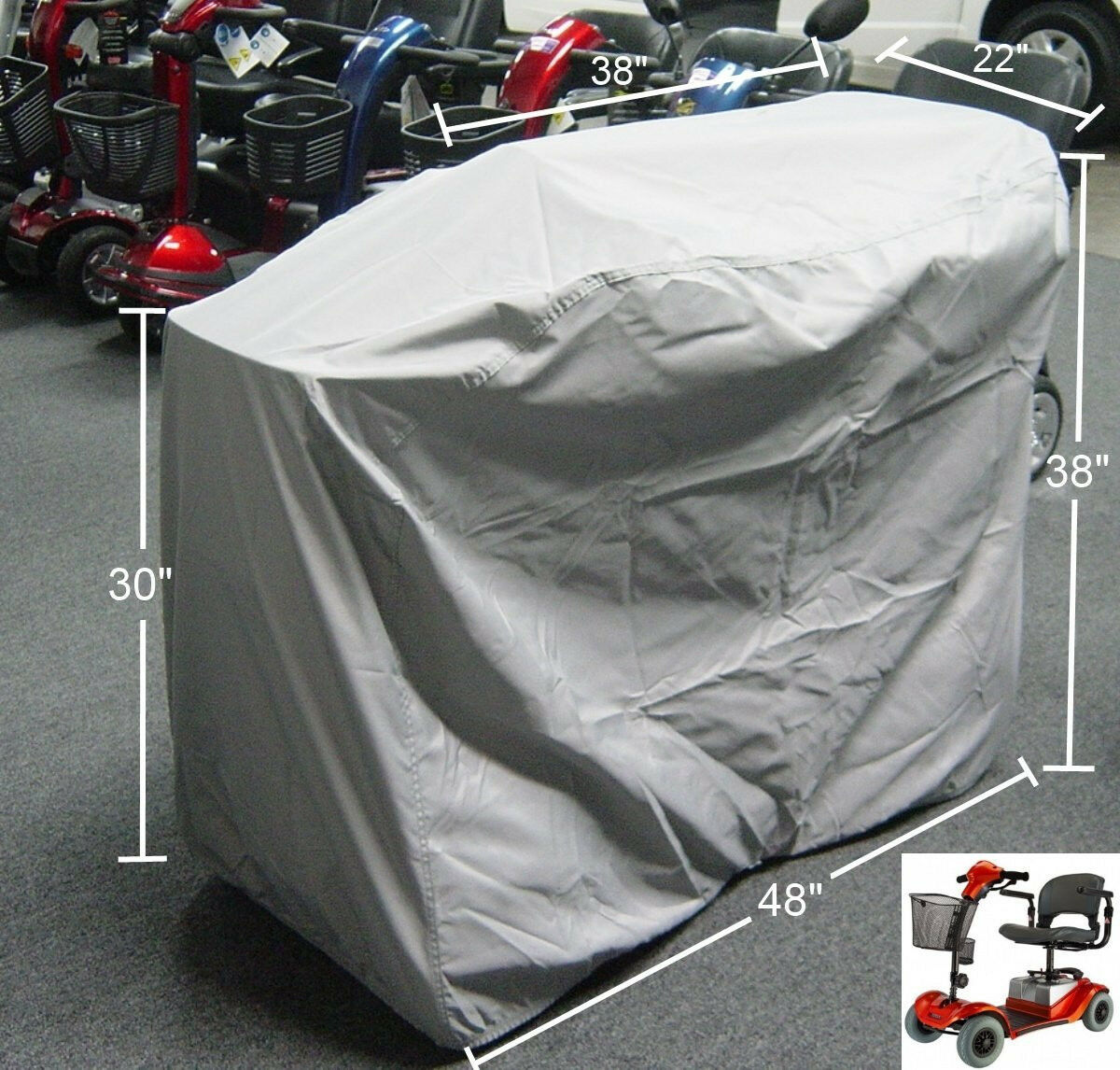 Mobility Scooter Storage Cover 48 L x 22 D x 38 H