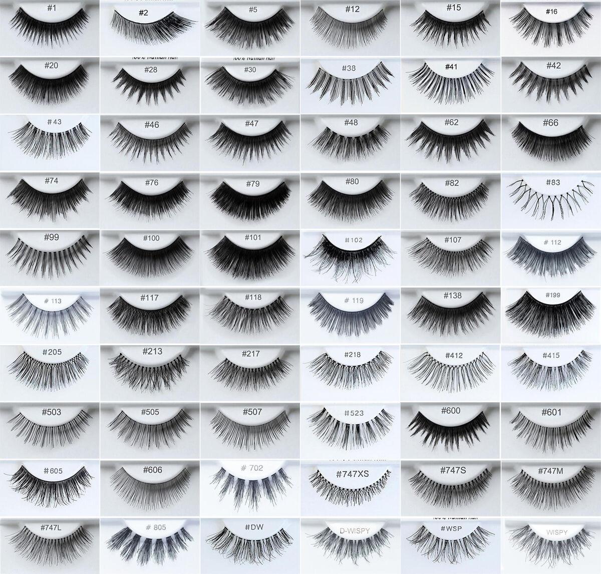 6 Pairs KARA 100% Human Hair False Eyelashes All Styles