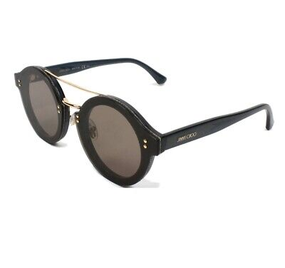 JIMMY CHOO MONTIE/S 64 MM ROUND SUNGLASSES PLUM (Jimmy Choo Glitter Sunglasses)