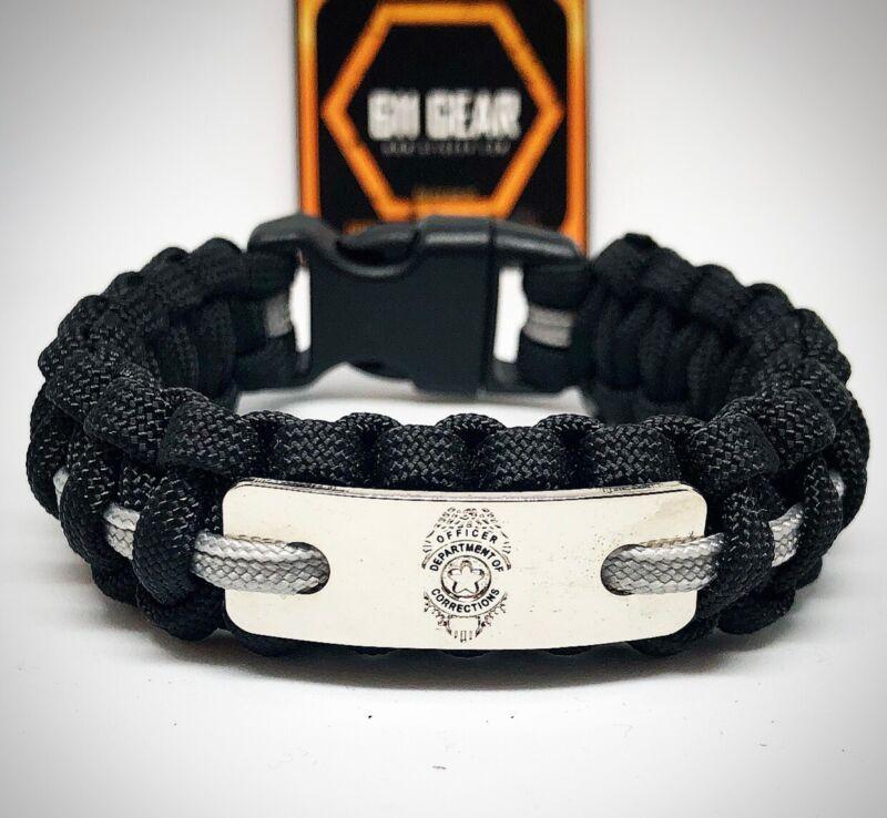 Corrections Officer Badge Paracord Bracelet