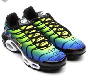 0838edc9b3 Nike Air Max Plus Tn Hyper Blue Green Cyber Black Mens | Men's Shoes ...