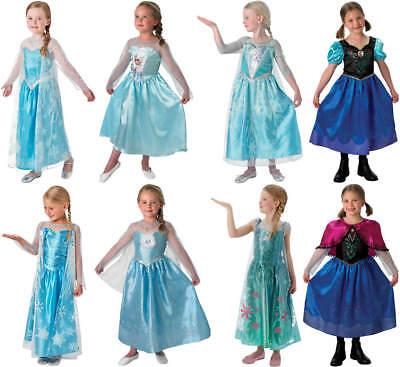 Disney Frozen Die Eiskönigin Kinder Karneval Fasching Kostüm 104-128