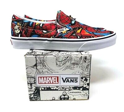 MAN Classic Slip-On LIMITED ED. (VN0A38F79H7) Men's Size 10 (Vans Spiderman)