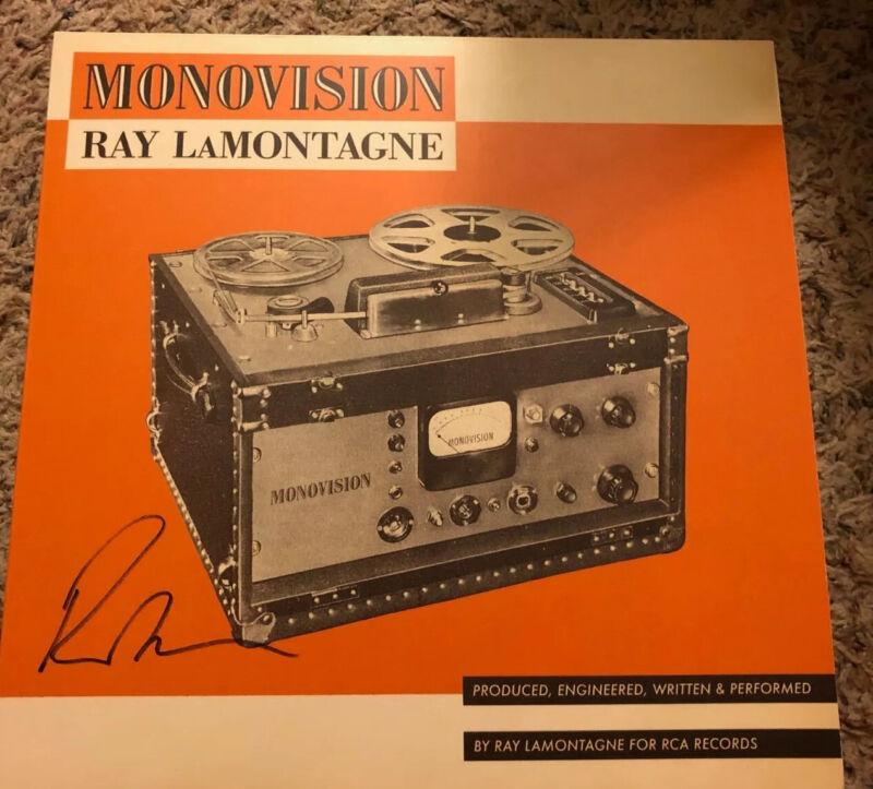 Ray LaMontagne Autographed Monovision Vinyl LP #2