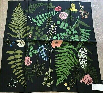 "Karen Mabon Silk Scarf Women's Floral Garden Large 34""x 34"" New With Tags"
