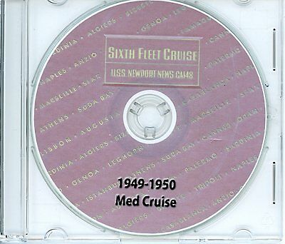 USS Newport News CA 148 1949 - 1950 Med Cruise Book on CD