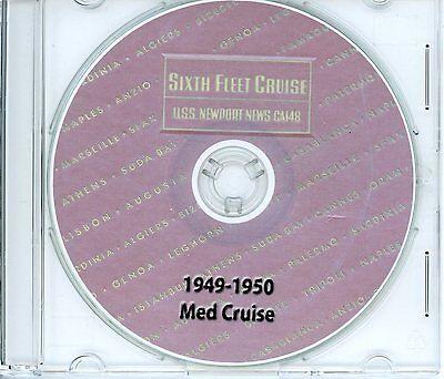 USS Newport News CA 148 1949 - 1950 Med Cruise Book on CD