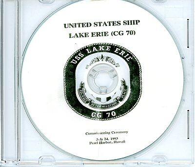 USS Lake Erie CG 70 Commissioning Program 1993 United States Navy Plank Owners