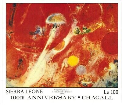 VINTAGE CLASSICS - Sierra Leone 887 - 100th Anniversary Chagall - S/S - MNH