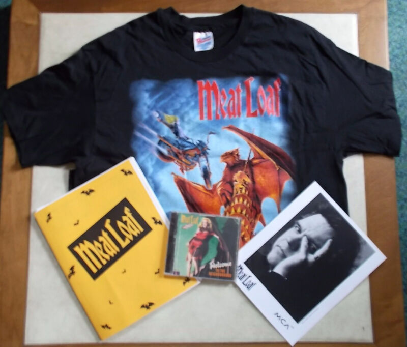 MEAT LOAF AUTOGRAPHED CD EVERYTHING LOUDER TOUR SHIRT FAN CLUB ITEMS & A STORY