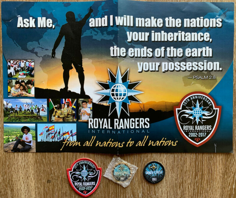 Royal Rangers International Inner Circle Patch, Coin, 15th Anniversary Patch