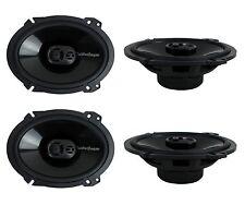 "4) New Rockford Fosgate P1683 6x8"" 260 Watt 3 Way Car Coaxial Speakers Audio"