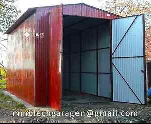 Blechgarage Lager KFZ Garage Halle Blechgaragen Schuppe Stapler 4x5 Einfahrt 2,6