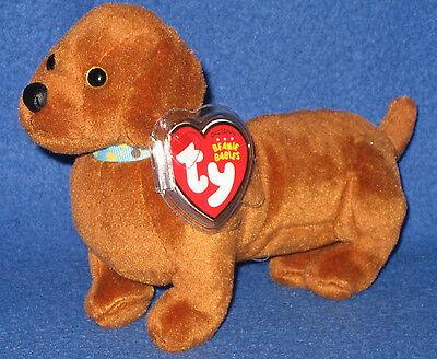 frank the dachshund dog beanie baby mint