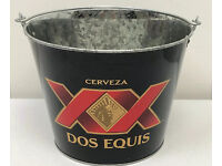 Dos Equis Cerveza XX Beer Metal Ice Bucket Man Cave Decoration Cool Ad Decor G