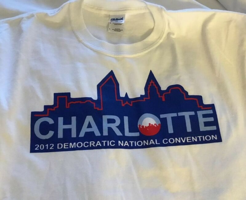 Charlotte 2012 Democratic National Convention s/s White T-shirt Large