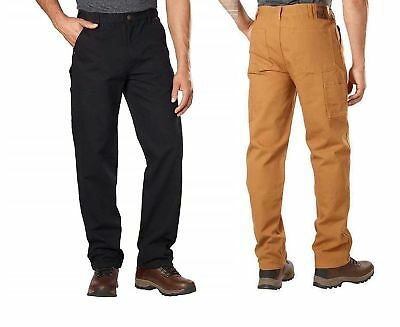 Stanley Mens Canvas Utility Pant Relaxed Fit Straight Leg Carpenter/Construction - Relaxed Fit Utility Pant