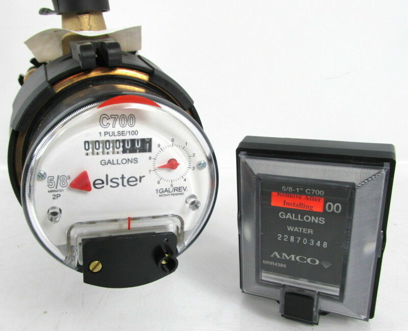 Elster AMCO C700 5/8 X 3/4 Direct Read Bronze Water Meter With Remote