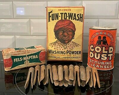 Vtg Advertising: Gold Dust Cleanser, Fun-To-Wash Powder & more, Black Americana  Gold Dust Powder