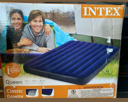 """Intex Queen 8.75"""" Classic Downy Inflatable Airbed Mattress"""