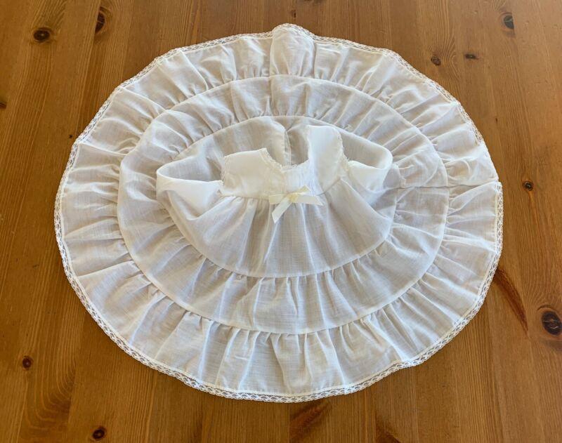 Her Majesty Girls 9M White Ruffled Lace Trim Full Circle Slip Vintage
