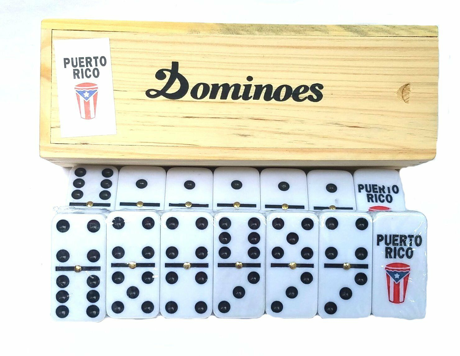 TRAVEL SIZE * Lot of 12 Puerto Rico Guiro Double Six Dominos Dominoes Rican