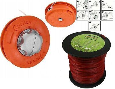 Fadenkopf Fadenspule Mähkopf Motorsense + Mähfaden für Motorsense 3,0 mm / 100 m