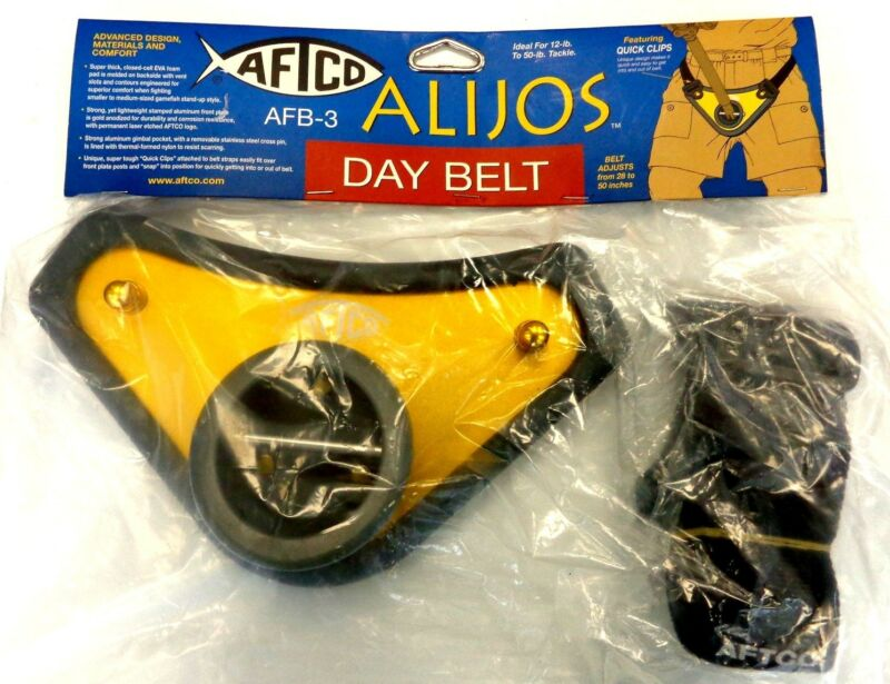 Aftco Alijos Fish Fighting Day Belt BELT3GHLD w/ Quick Clips - 12-50Lb Tackle