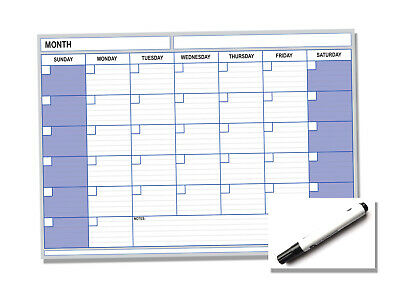 A3 Monthly Wall Chart Planner Calendar Laminated Wipe Clean - Any Year Any Month (Laminated Monthly Wall Calendar)