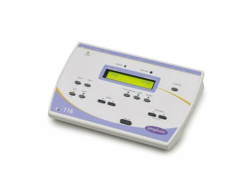 Amplivox 116 portable audiometer headphones, case