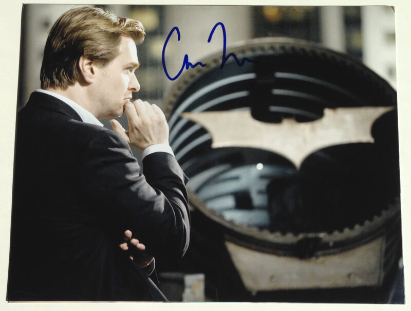 DIRECTOR CHRISTOPHER NOLAN SIGNED THE DARK KNIGHT RISES 11X14 PHOTO W/COA