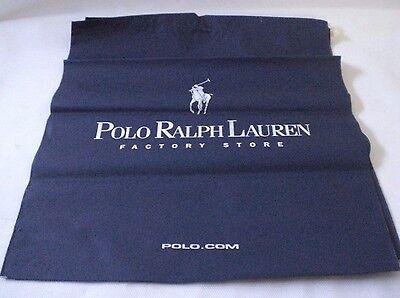 Polo Ralph Lauren Factory Store Blue Shopping Bags Drawstring White Writing x 2
