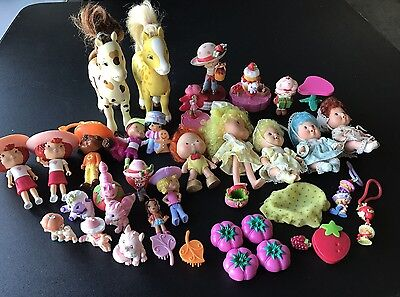 Strawberry Shortcake Large Lot of Vintage Dolls Pets