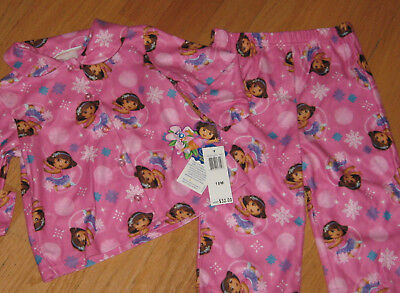 Girls Size 18M Nickelodeon Dora The Explorer Pajama Set  32 Retail 18 Months Nwt