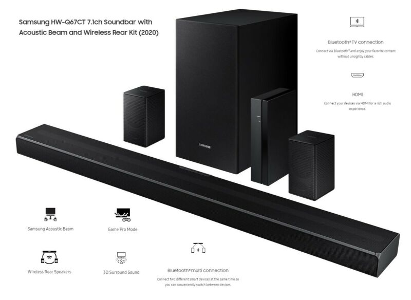Samsung HW-Q67CT Home Theater 7.1 w/ Rear Speakers & Sub - Certified Refurbished