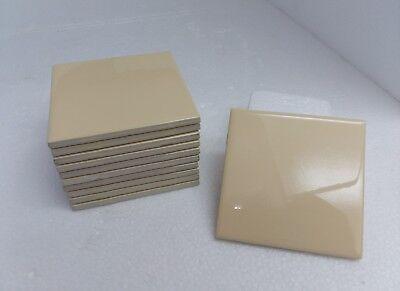 4 1/4 Yellow Tile French Vanilla Daltile Classic Color 141 Vintage Retro Gloss