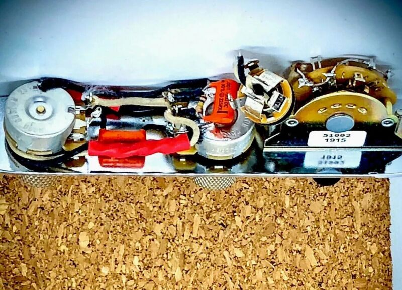 Telecaster Wiring Harness-Chrome Plate/Knobs CTS-𝐏ure Tone-Sprague-Treble Bleed