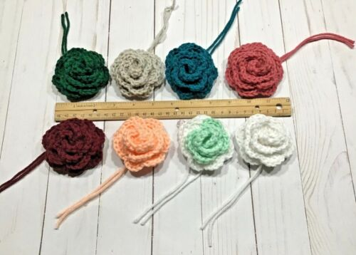 Crochet Flowers - Roses ~ 8 Total