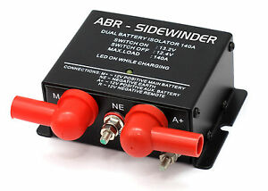 12V DUAL BATTERY ISOLATOR VSR by ABR-SIDEWINDER, WITH JUMP START BETTER VSR