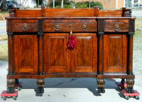 Beautiful Mahogany Empire Buffet Sideboard~~Hairy Paw Feet~~circa 1840