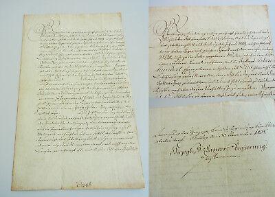 Dokument COBURG 1808: Bestimmungen an Buchdrucker AHL für Druck REGIERUNGSBLATT