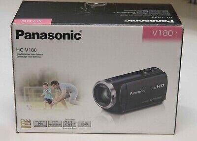 Panasonic Full HD Camcorder HC-V180K 50X Optical Zoom Touch 2.7-Inch LCD USA ver