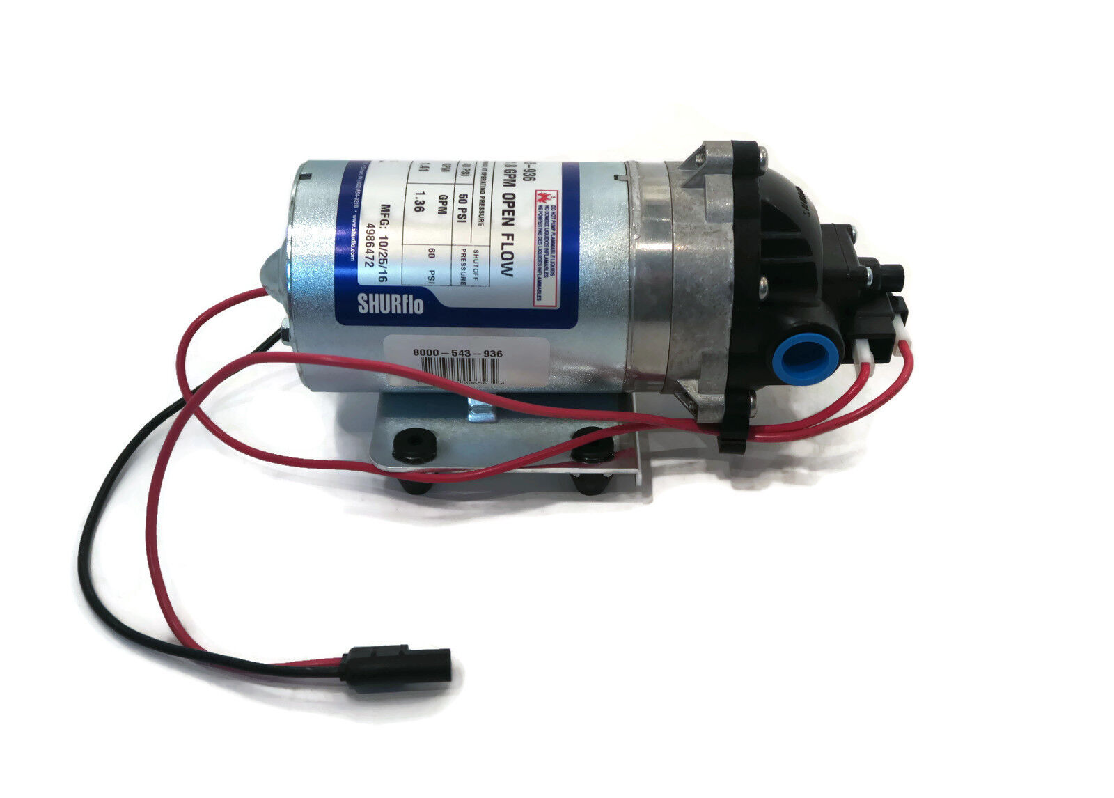 New Shurflo 12v Electric Water Transfer Pump W Wiring Harness 18 Psi Wire Gpm 60