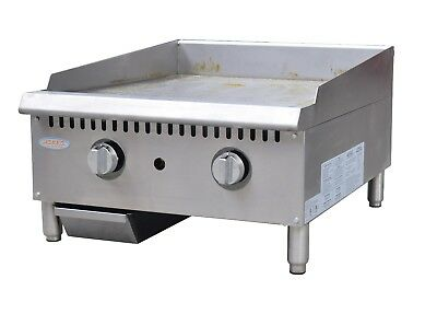 Hakka Heavy Duty Commercial 24 Countertop Gas Thermostat Griddles
