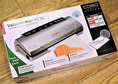 CASO VC10 Vakuumierer / Vakuumiergerät + 10 Gratis-Profi-Folienbeutel - NEU+OVP