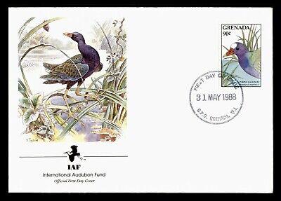 DR WHO 1988 GRENADA FDC IAF PURPLE GALLINULE  C224269