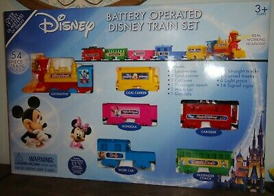 NEW Disney Train 2014 Original Set 53 Pc Battery Operated Mickey Mouse & Friends